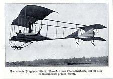 Aviatik Neuster Typ: Aeroplan von Odier-Nendome Historische Aufnahme von 1909