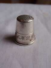 ANTIQUE CONTINENTAL SOLID SILVER HAND ETCHED THIMBLE