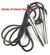 Skipping Rope with steel handles fitted with Leather 9 ft rope speed / jump rope