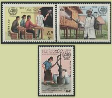 LAOS N°850/852**  OMS, 1988 WHO MNH
