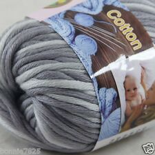 Sale New 1 Skein x 50g Soft 100% Cotton Chunky Super Bulky Hand Knitting Yarn 38