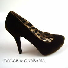 DOLCE & GABBANA DAMEN BUSINESS SCHUHE DONNA DECOLTE PUMPS NEW ORIGINALGR. 38,5