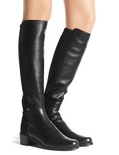 STUART WEITZMAN THE MEZZAMEZZA BLACK NAPPA LEATHER KNEE STRETCH 5050 SZ 7 NEW