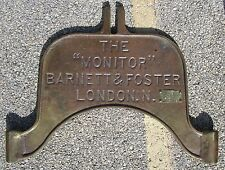 ANTIQUE BOTTLING MACHINE BRASS SIGN BARNETT & FOSTER SODA BEER LONDON CHICAGO