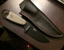Esee Izula With Micarta Handle And Leather Sheath