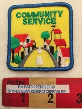 FREE SHIPPING ~ PATCH ~ COMMUNITY SERVICE AWARD ~ SERVICE LEARNING BY DOING 59Z2