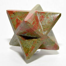 "2.6"" Natural Unakite 8 Point Merkaba Star Orthoclase Epidote Crystal from China"