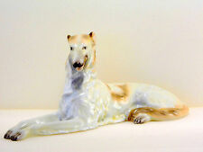 HEREND SITTING GRAYHOUND,12 INCHES LONG DOG FIGURINES,MINT CONDITION