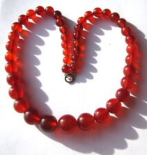 "15"" NECKLACE OF BEAUTIFUL OLD GRADUATED CARNELIAN VINTAGE BEADS"