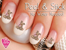 Cute Teddy Bear Stuffed Animal Nail Decal Sticker BER107