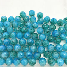 DIY 10 Pcs 10mm Loose Beads Round Spacer Double Colors Glass Jewelry making #01