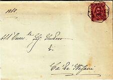 Z17733-LOMBARDIA,MARTIGNANA DI PO,COLLETTORIA OTTAGONALE PER CA DE' STEFANI,1888