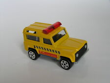 MAJORETTE #266 LAND ROVER 90 NINETY YELLOW W/ LIGHT BAR FK ENTERPRISE MINT LOOSE