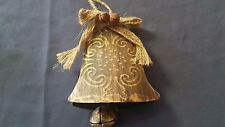 ORNAMENT metal rustic GOLD BELL *** MORE ORNAMENTS IN OUR STORE