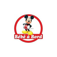 Decal Sticker child Baby à bord Mickey 16x16cm ref 3569