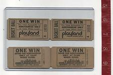 vintage lot one win tickets Basket Ball Game Whitneys Playland San Francisco Ca.