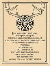 LORD OF THE HUNT POSTER A4 SIZE Wicca Pagan Witch Witch Goth BOOK OF SHADOWS