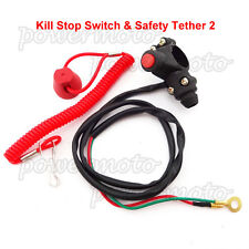 Handlebar Mounted Tether Kill Switch For Dirt bike Suzuki Honda MiniMoto ATVQuad