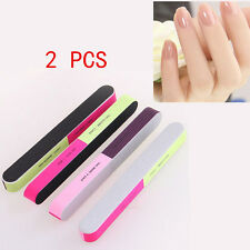 NEW 2 Pcs Nail Art Manicure 4 Way Shiner Buffer Buffing Block Sanding File LOCA#