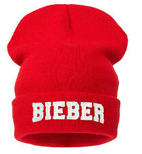 Winter Knitted BIEBER BEANIE HAT CAP BAD HAIR HATS WOOLLY SNAP BACK 1994 NY CAP