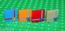 Lego 4x Mix Tile 2x2 Custom Printed Present Design NEW