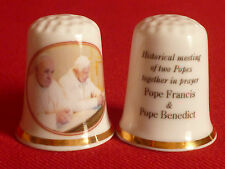 Pope Francis and Pope Benedict - First Time 2 Popes Meet  In History Thimble