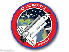 "4""  SPACE SHUTTLE 1981-2010 NASA HELMET BUMPER EMBLEM DECAL STICKER MADE IN USA"