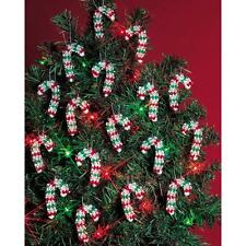 """Holiday Beaded Ornament Kit MINI CANDY CANES Christmas Ornaments 2"""" Makes 24"""