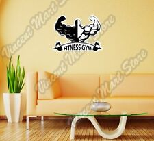 """Fitness Gym Exercise Workout Strong Wall Sticker Room Interior Decor 25""""X20"""""""