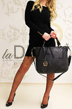 Handle Bag with Decode Trailer black gold Vintage Used Leather Look Shopper