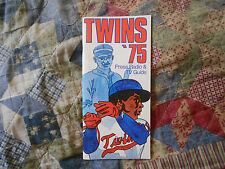 1975 MINNESOTA TWINS MEDIA GUIDE Press Book ROD CAREW Program Yearbook Minn AD