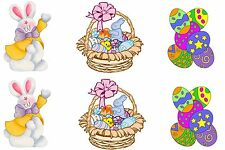 Easter Bunny Eggs Edible Party Image Cupcake Topper Frosting Icing Sheet Circles