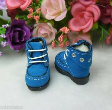 16cm Lati Yellow Basic 1/6 Bjd Blythe Pullip Doll Shoes Velvet Hole Boots Blue