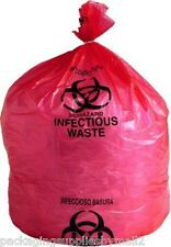 "33 Gallon Red Biohazard Waste Bags High Density 31"" x 43"" Box of 250"