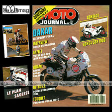 MOTO JOURNAL N°781 DE RADIGUES, PARIS-DAKAR, HONDA RS 250, ENDURO TOUQUET 1987
