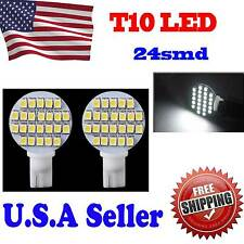 10x T10/921/194 White RV Trailer Interior 12V LED Light Bulbs 24 SMD