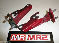 Toyota MR2 MK2 SW20 Engine Lid Cover Hinges Red 3E5  - Mr MR2 Used Parts