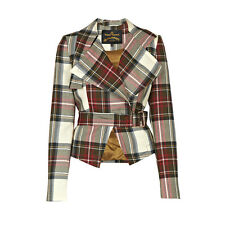 Vivienne Westwood Anglomania Windmill Bondage Jacket Exhibition Tartan IT40