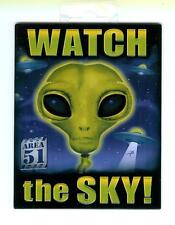 Watch The Sky Area 51 - Sturdy Metal Magnet - hang on anything metal