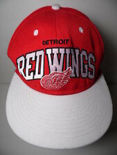 DETROIT RED WINGS LOGO NHL Ice Hockey MITCHELL & NESS Snapback Hat Throwback Cap