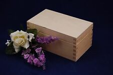 Plain Wooden Tea Box with 2 Compartments Perfect for Decoupage
