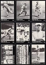 BABE RUTH COLLECTION 1992 MEGA CARDS INC. COMPLETE BASE CARD SET OF 165