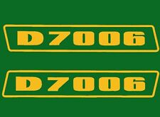 Deutz D7006 Aufkleber Logo Emblem Sticker Label gold .