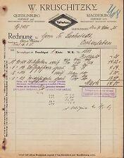 """Quedlinburg, factura 1925, """"Weka"""" - esmaltes w. kruschitzky"""