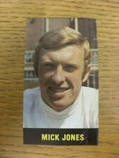 1969/1970 Football Pictorial Cut-Out: Top Team Set - Leeds United - Jones, Mick.