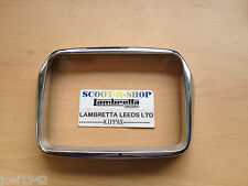 VESPA S 50 125 150 200 HEADLIGHT-LAMP RIM. GENUINE PIAGGIO PARTS CHROMED PLASTIC