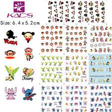 11Sheets/set Cartoon Nail Art  Water Transfer Decal Tattoo Sticker BLE1797-1807