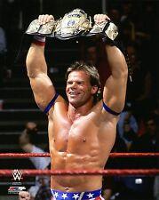 """Wwe Foto Lex Luger 8 x 10 """"Oficial Wrestling Promo flexing wcwwwf Campeón cinturón"""