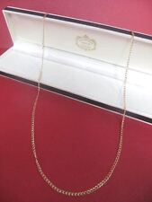 NEW 18ct GOLD Filled 750 Purity 24inch Curb Links Chain Necklace Not Scrap 3.8g