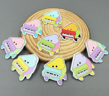 DIY 25X Wooden Buttons Music Piano Sewing decoration Crafts Scrapbooking 29mm
